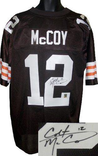 8a90f77a2a9 Colt McCoy signed Cleveland Browns Reebok Premier EQT Brown Jersey- McCoy  Hologram .  136.80.