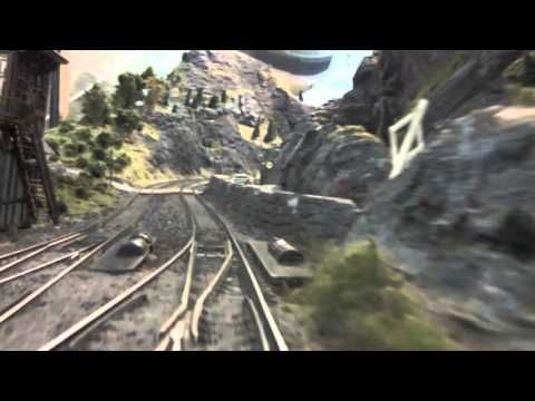 Cab ride on Mr  Porsche 's very large model train layout - YouTube