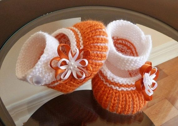 Little Shoes in Orange and White