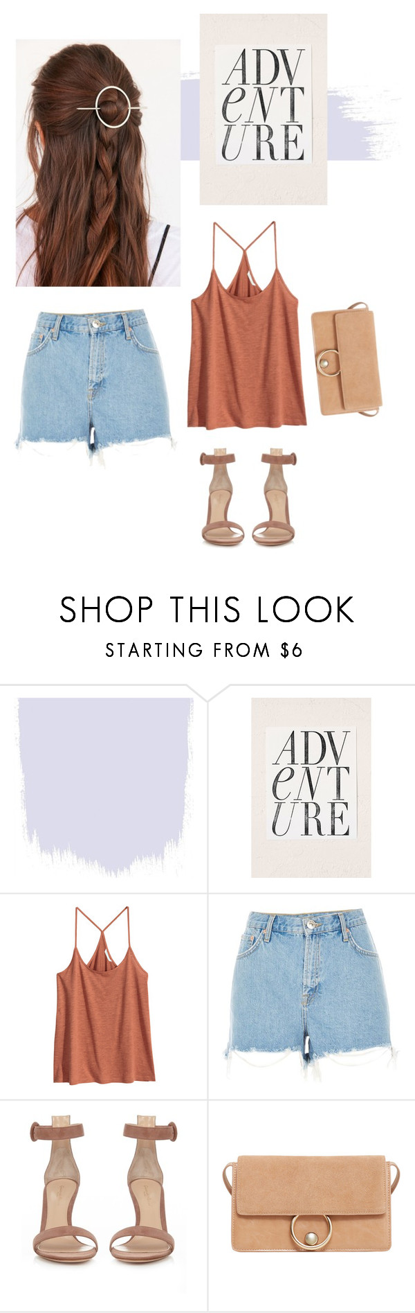 """Untitled #1891"" by katerina-rampota ❤ liked on Polyvore featuring Urban Outfitters, H&M, River Island, Gianvito Rossi, MANGO, vintage, Summer, indie and polyvorecommunity"