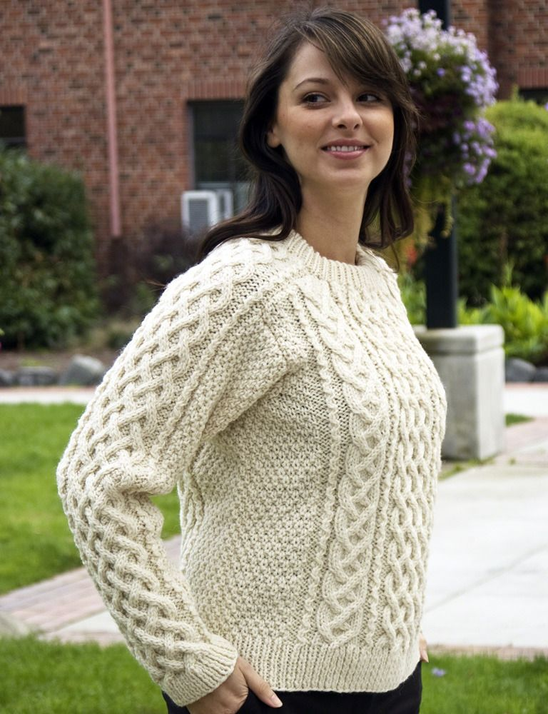 Saddle Shoulder Aran in Ecological Wool - A144 | Knitting ideas ...
