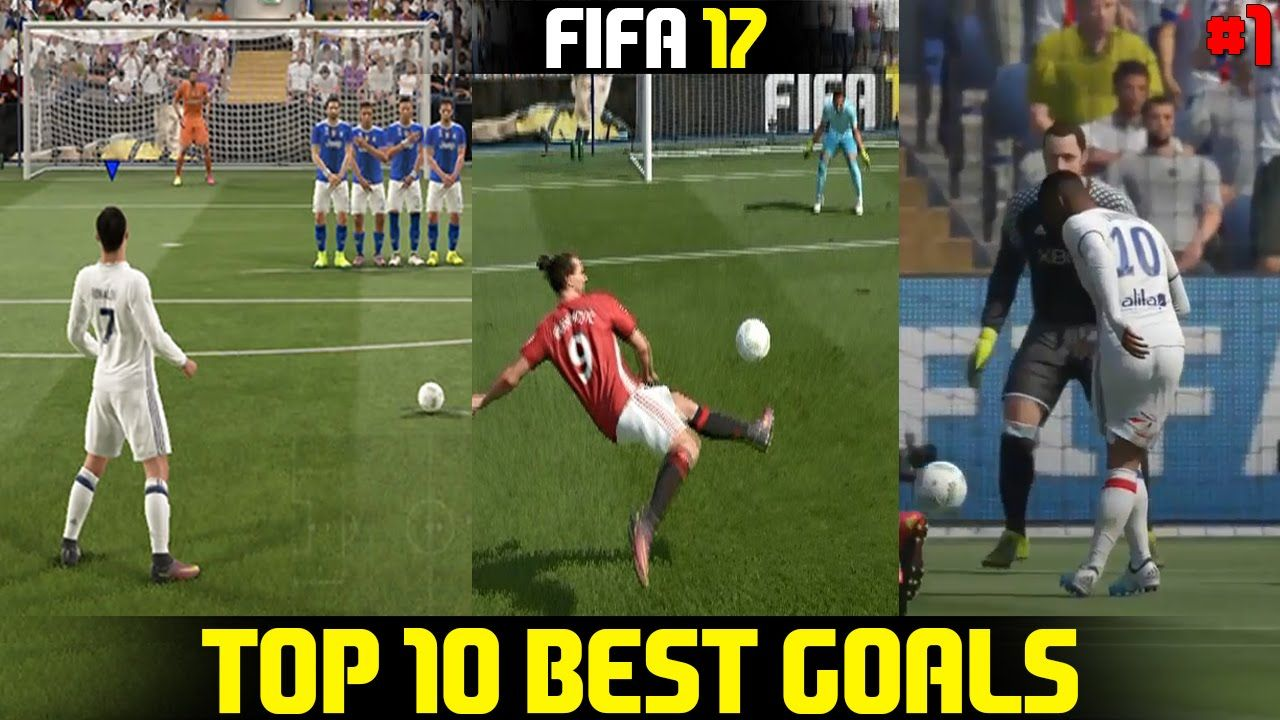 Fifa 17 Top 10 Best Goals Ft Rabona Bicycle Kick Free Kick