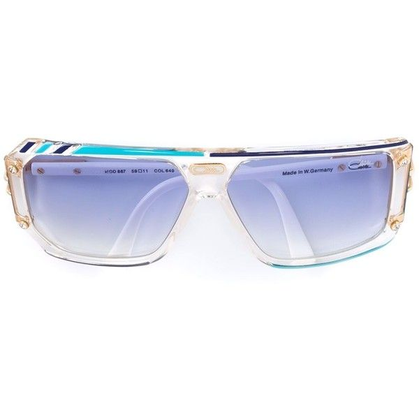 d8b82f96ee34 Cazal  867  geometric sunglasses (€2.350) ❤ liked on Polyvore featuring  accessories