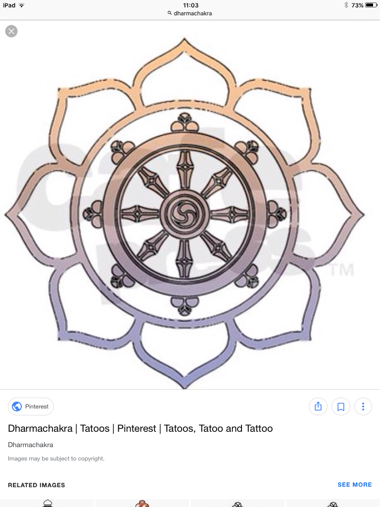 Dharma chakra inside a lotus flower id have the top petal white dharma chakra inside a lotus flower id have the top petal white symbolising enlightenment then have the others the body chakra colours izmirmasajfo