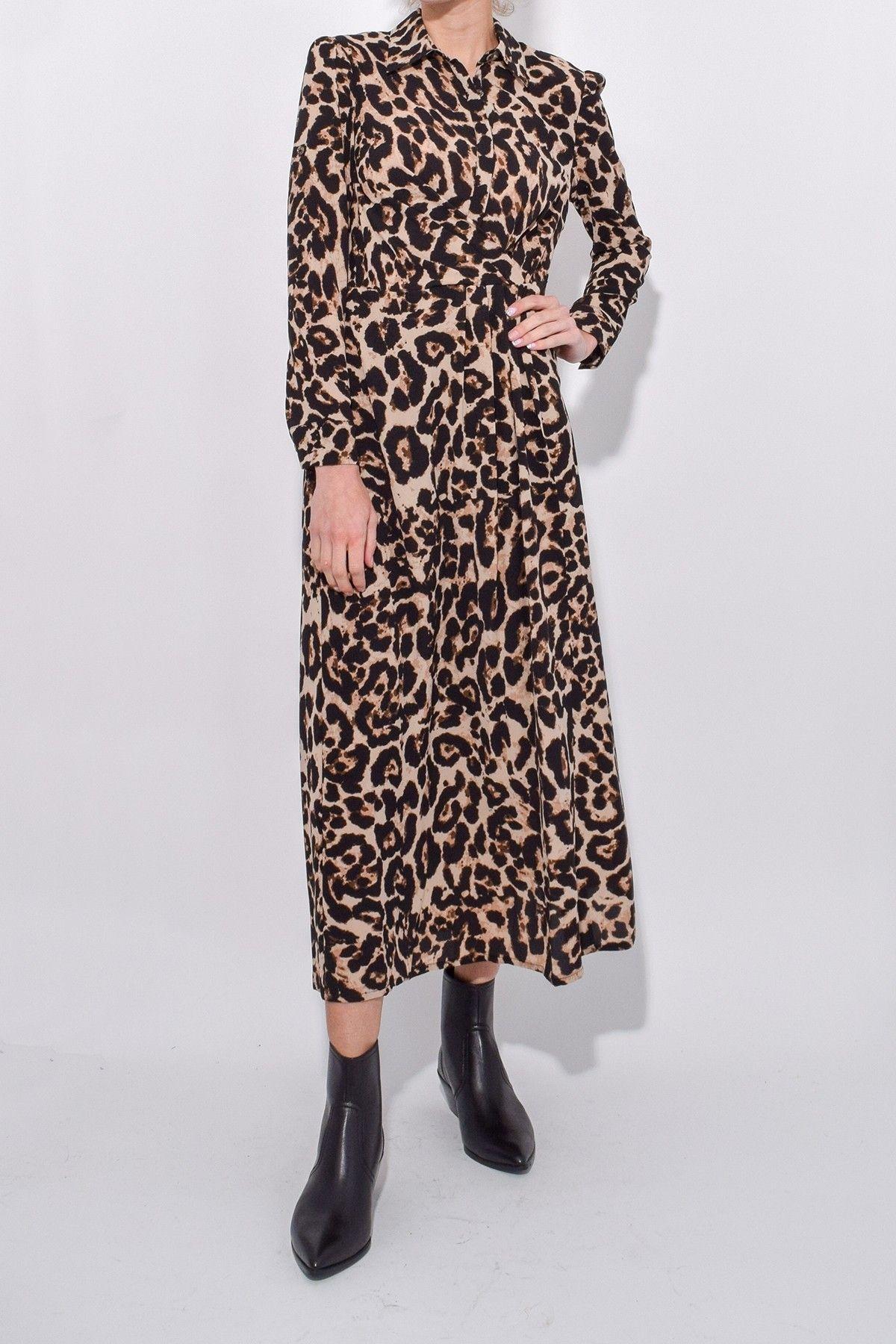 8adbbc4d30ed Baum Und Pferdgarten Alham Dress in Wild Leopard   Hampden Dresses ...