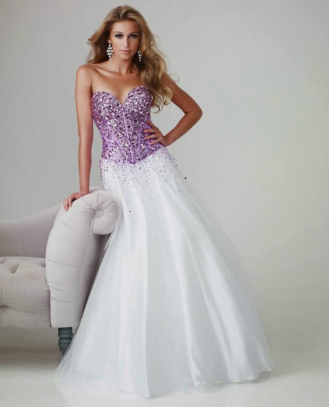 Cheap Plus Size Purple And White Wedding Dresses Mother From The