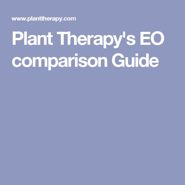 Plant TherapyS Eo Comparison Guide  Essential Oil Templates