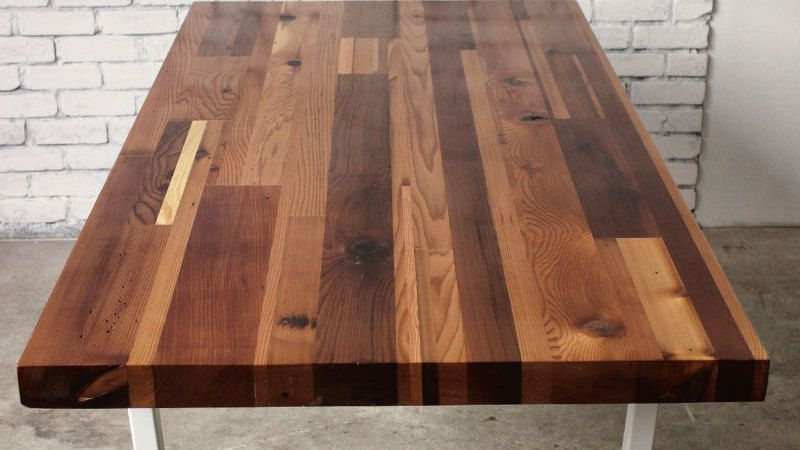 Attirant Staggered Cedar Table Top. Reclaimed Wood Sourced From Over A 100 Year Old  Building In Gastown Vancouver. Sealed In A Epoxy Resin Makes This Softwood  Top ...