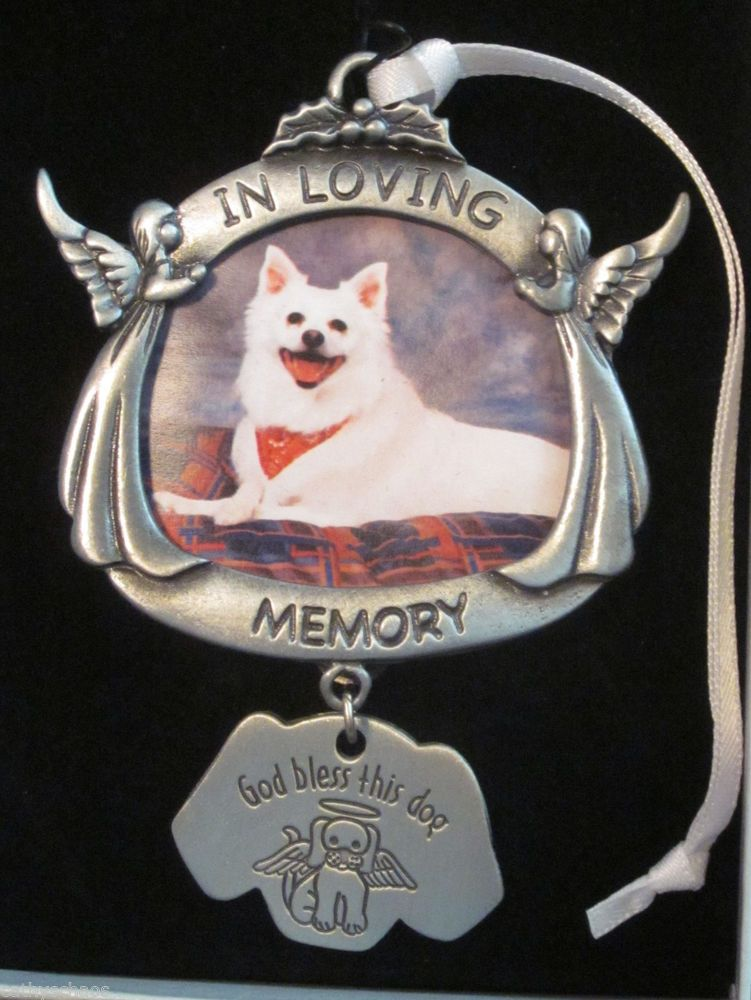 Pewter Angels God Bless this Dog Picture Frame Christmas Ornament ...
