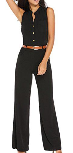29a13297016 2017 Hot Sale Sexy Wide Leg Elegant jumpsuits Rompers Solid Sleeveless Plus  Size Overalls For Women Bodysuits Pants