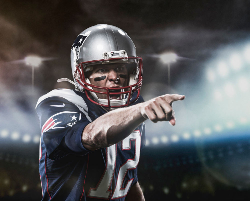 Ea Madden 18 Cover Shoot Featuring Tom Brady New England Patriots At The Time In Studio Color Photography Athlete Football Tom Brady Tom Brady Art Toms