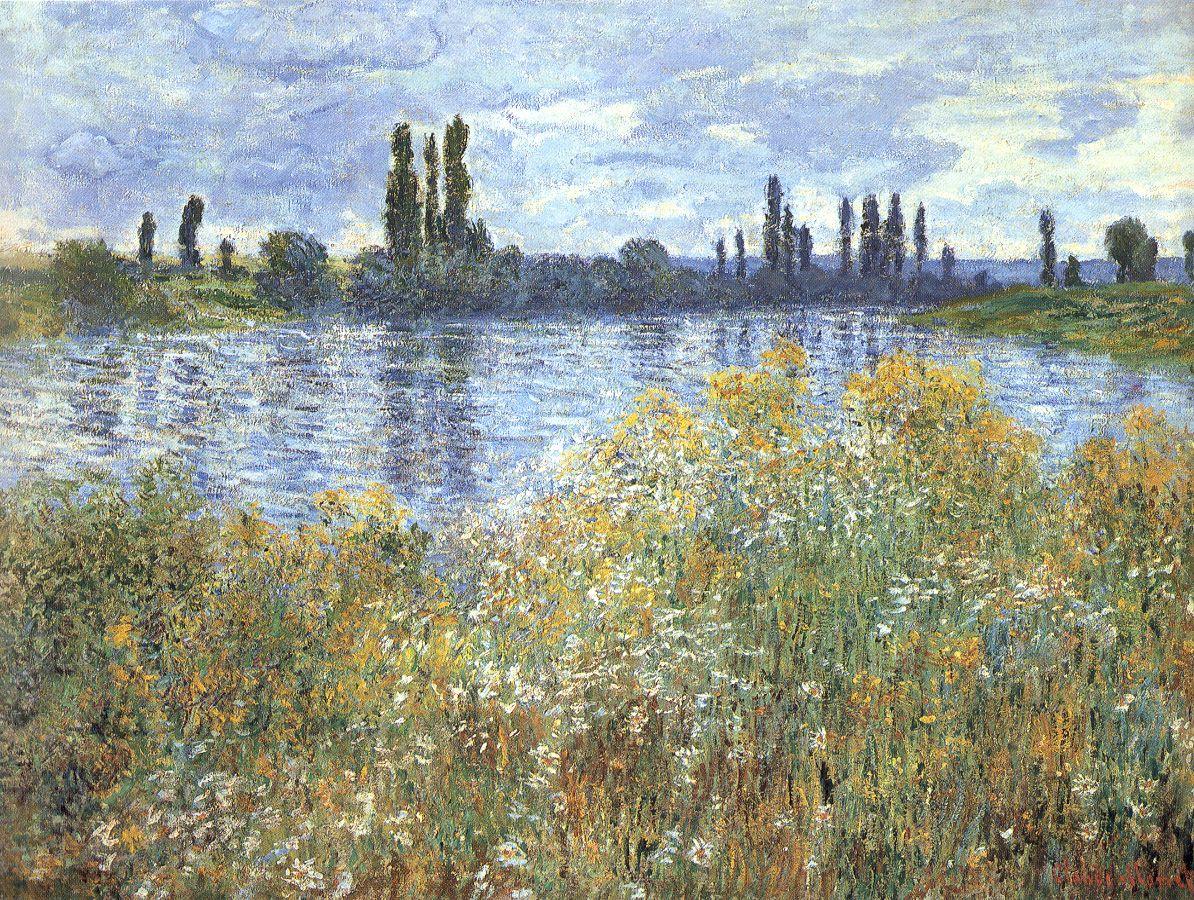 Claude Monet Most Famous Paintings The Banks Of The Seine Near Vetheuil Monet Art Claude Monet Art Claude Monet Paintings