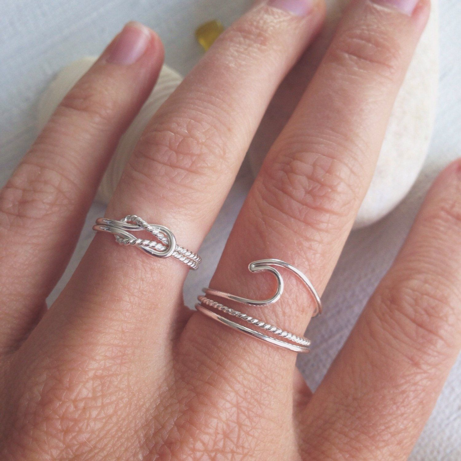 Knot Ring - SQUARE KNOT - Infinity Ring - Knotted Sterling Silver ...
