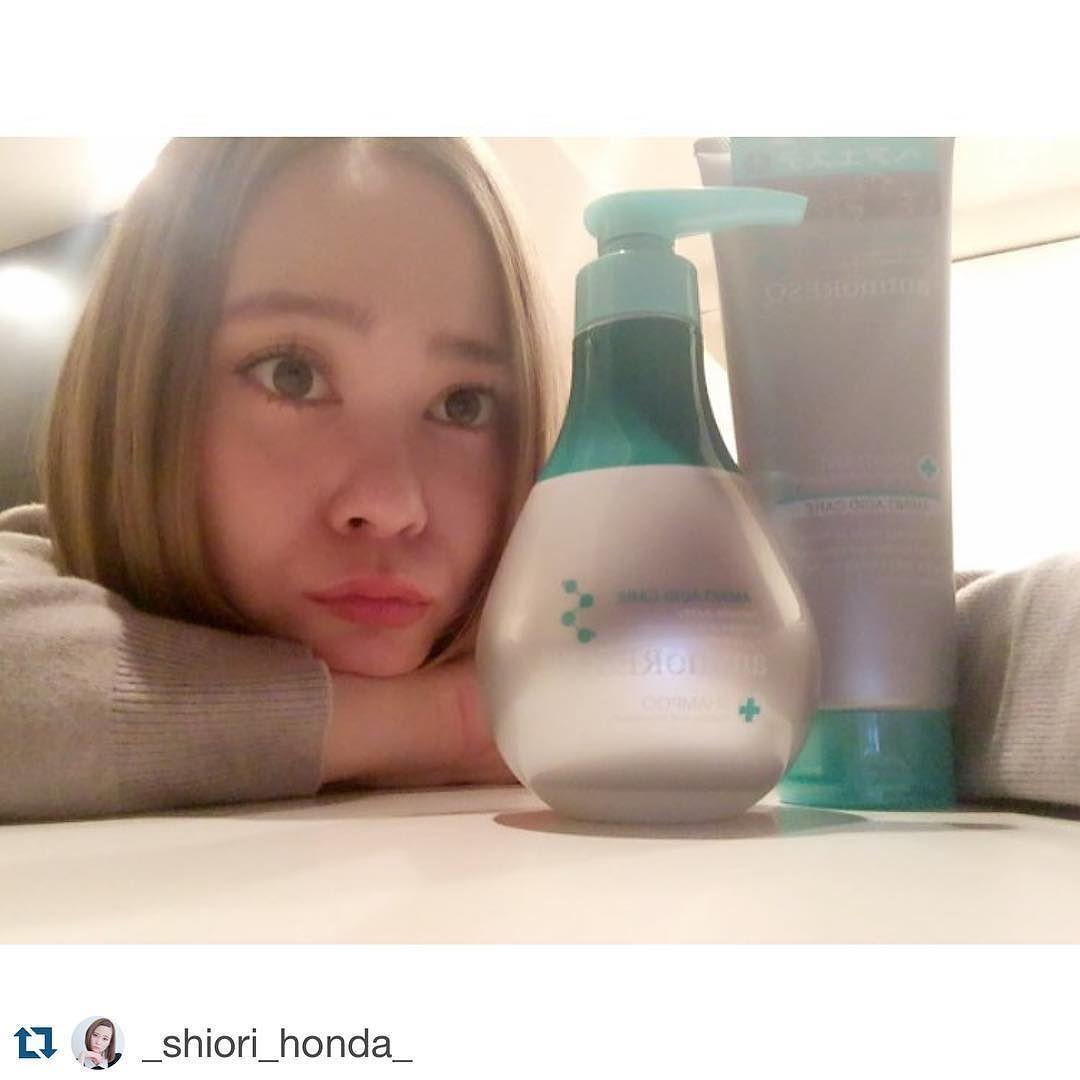 気に入って頂け嬉しいです:) #Repost @_shiori_honda_ 最近ヘアカラー変え過ぎて髪の傷みが激しかったのでヘアケア変えました アミノレスキュー本当髪サラッサラになるよ  #aminoresq#アミノレスキュー