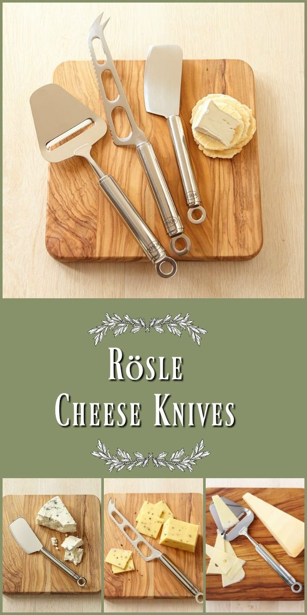 Rösle Cheese Knives - Perfect companion to any cheese plate offering three specially designed tools for slicing the full spectrum of cheeses from u2026  sc 1 st  Pinterest & Rösle Cheese Knives - Perfect companion to any cheese plate ...