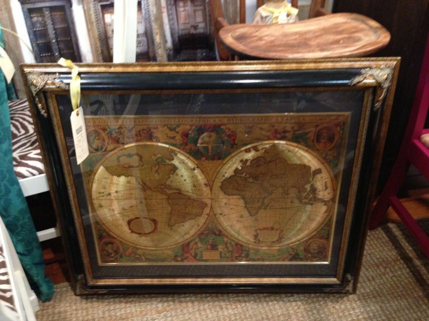 Manifestations inc old world maps antique large frame black and gold manifestations inc old world maps antique large by redeemedfinds 25000 gumiabroncs Image collections
