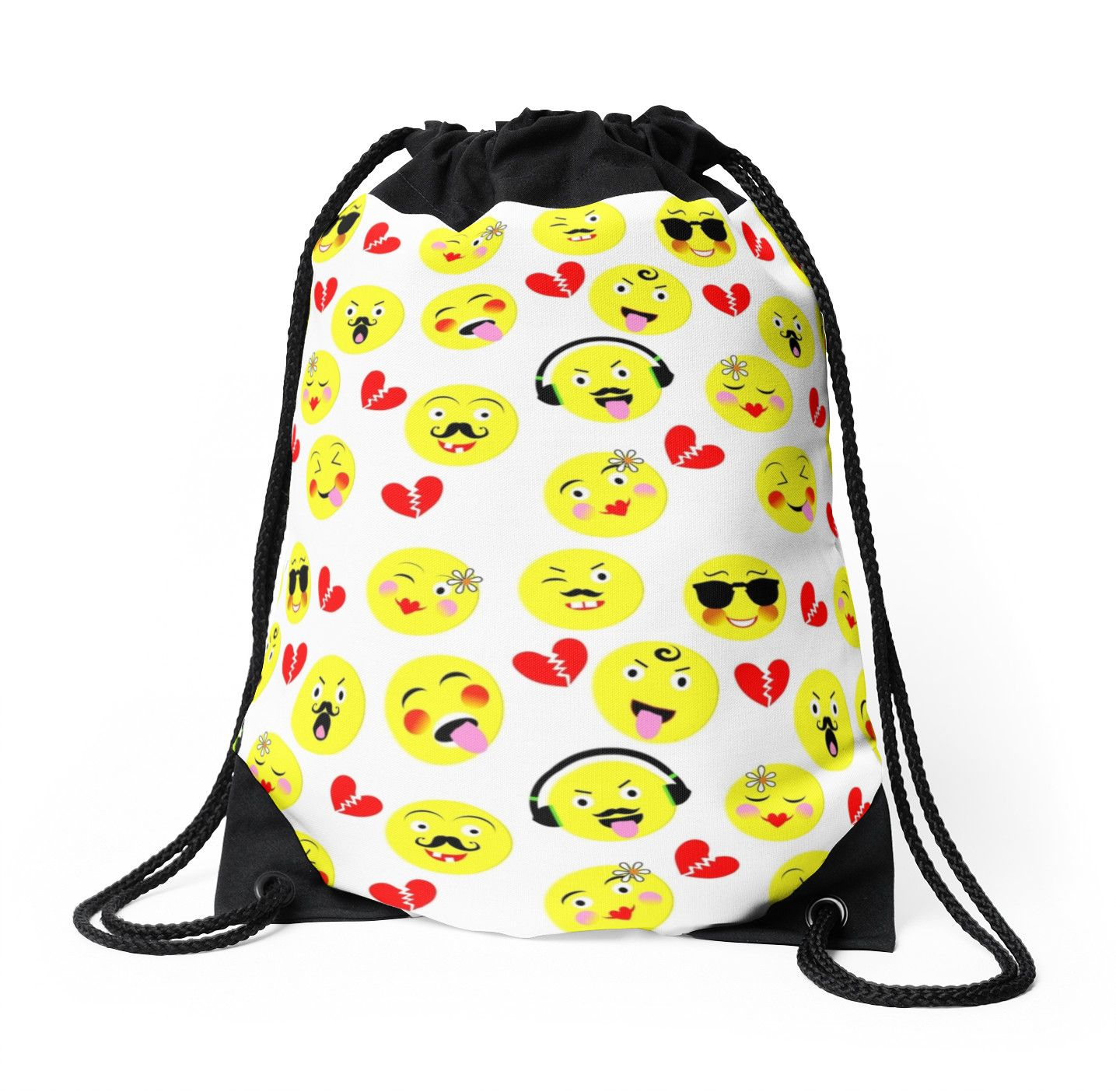 cute funny emoji guys trendy modern patterned by artification