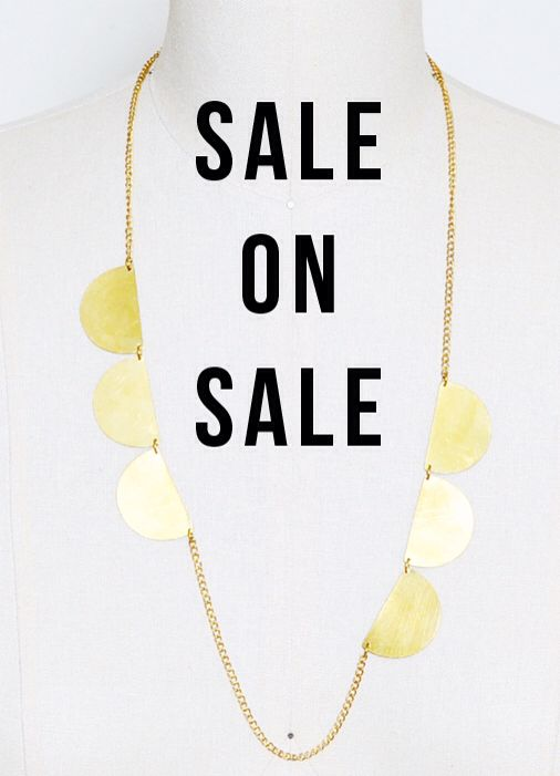 It's a SALE ON SALE! 40% off already makes down sale prices as www.greenolastyle.com Use online code SALEONSALE (sale ends Sunday OCR 12, 2014)