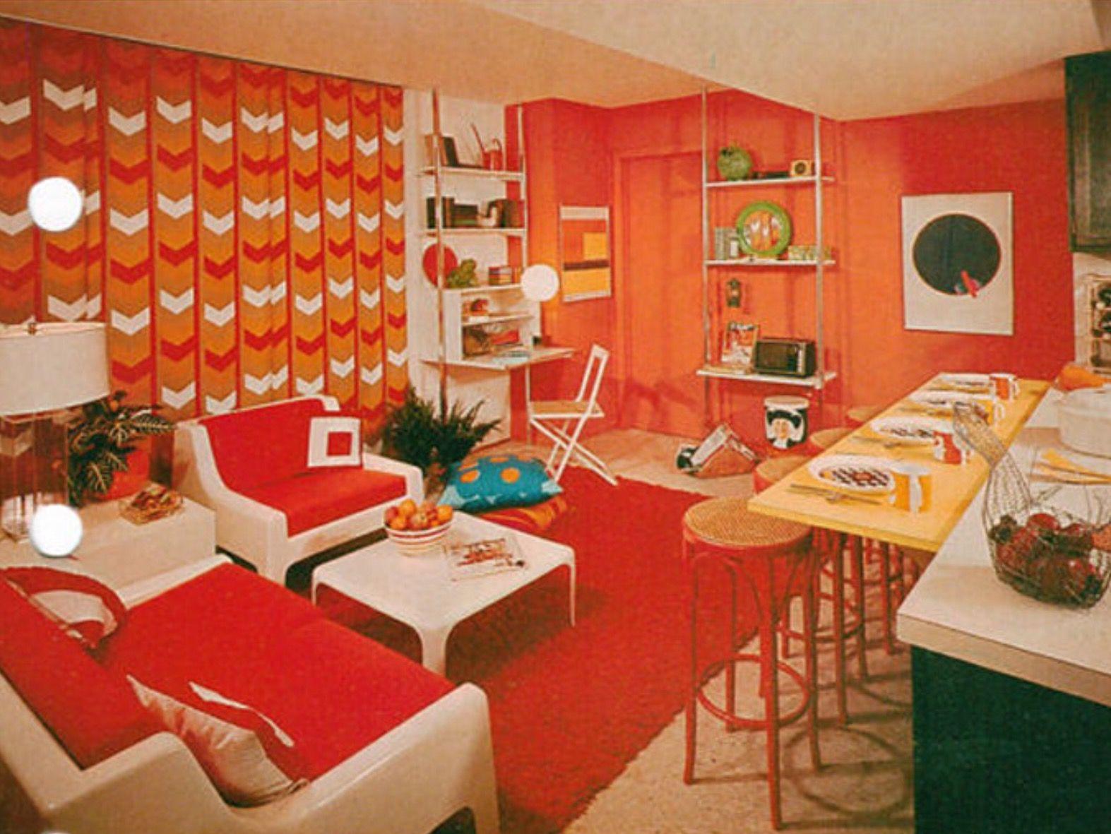 Vintage house interior design perpetual light vintage etsy  retro rooms in   pinterest