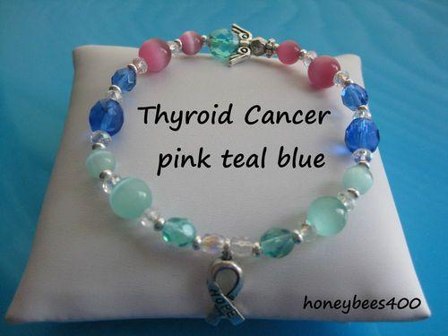 53ef390cc THYROID Cancer Awareness HOPE & ANGEL Bracelet on e-bay $5.75 honeybees400