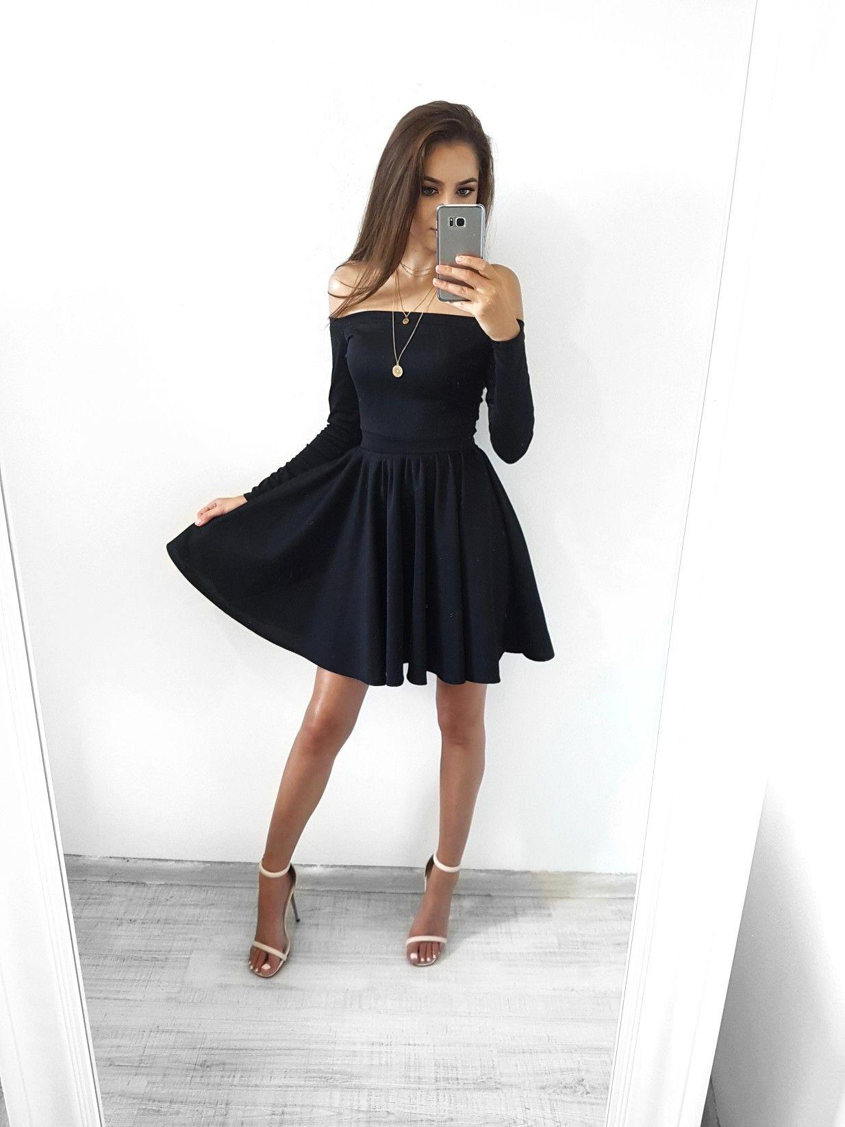 Www Lovecoco Pl Czarna Sukienka Bez Ramion Na Wesele Studniowke Dresses Short Dresses Fashion