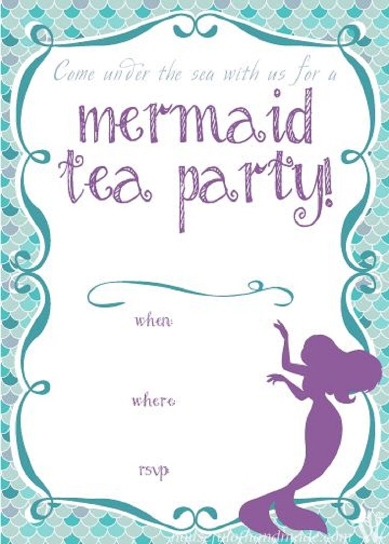 pool party bridal shower invitation printable party invitation card in 2019 mermaid party. Black Bedroom Furniture Sets. Home Design Ideas