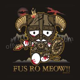 c7e62b71d fus ro meow! skyrim kitty! :) | hello kitty <3 | Shirts, T shirt, V ...