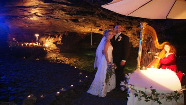 15 The Subterranean Lake Carnglaze Caverns Cornwall Unusual Wedding VenuesWedding
