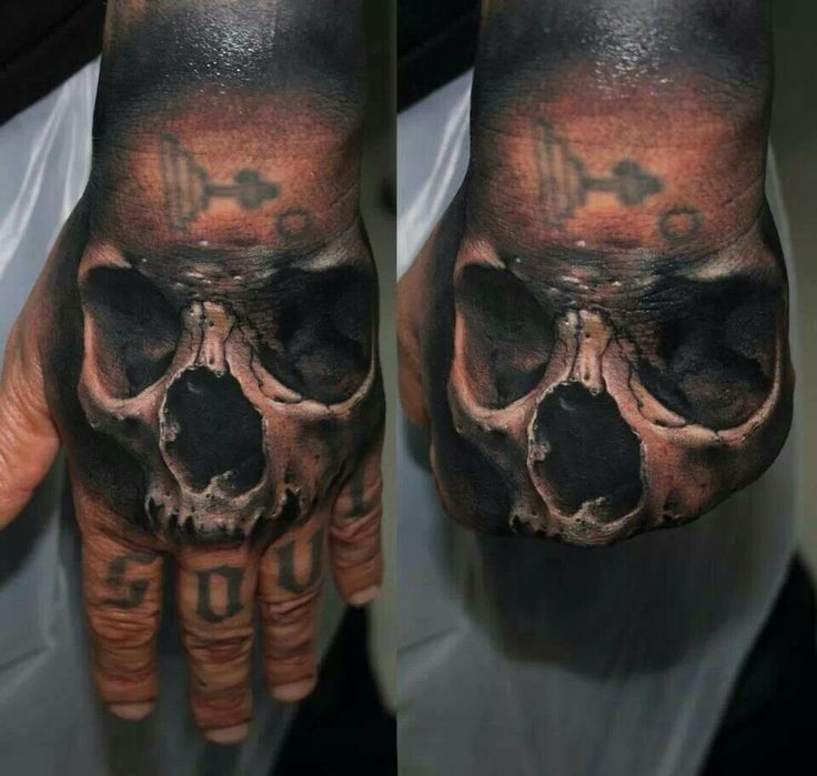 Hand Evil Skulls Yeah Skull Hand Tattoo Hand Tattoos Hand Tattoos For Guys