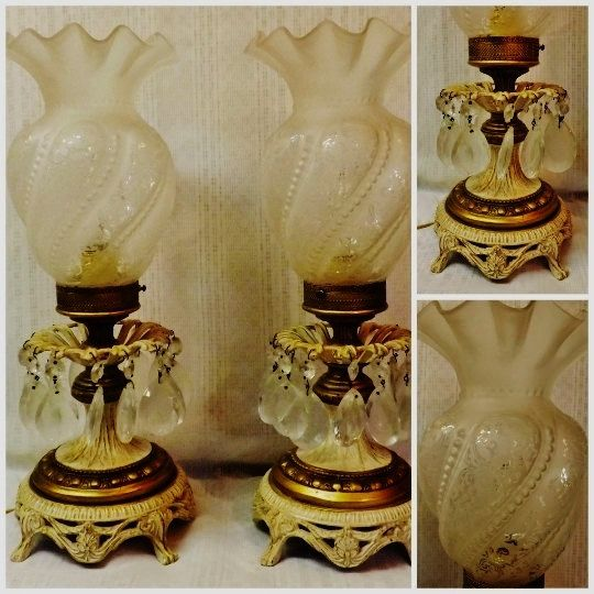 Victorian Brass Lamp Teardrop Crystal Prism Etched Globes Set Pair https://www.etsy.com/listing/258128649/victorian-brass-lamp-teardrop-crystal?ref=shop_home_active