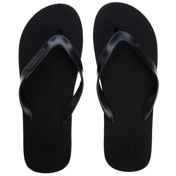 e00887178152d6 Armani Exchange Metal Plate Flip Flop ( 25) ❤ liked on Polyvore ...
