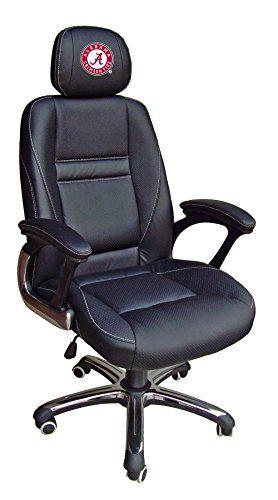 NCAA College Alabama Crimson Tide Leather Office Chair Home Luxury