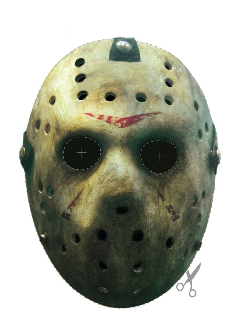 Free Friday The 13th Jason Vorhees Hockey Mask Printable Face