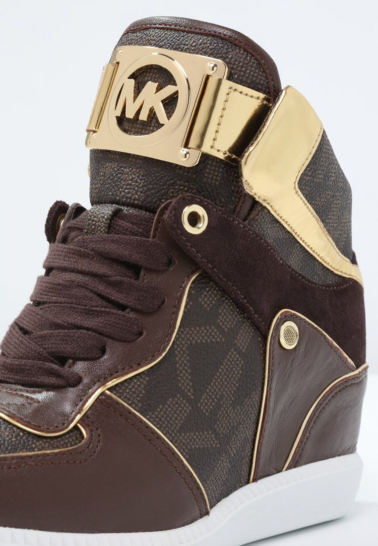53891e22109 MICHAEL Michael Kors NIKKO - Sneakers hoog - brown - Zalando.nl ...