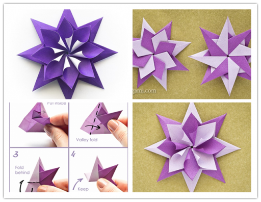 Pretty Folded Origami Paper Star Tutorial Video Wonderfuldiy Wonderful Diy