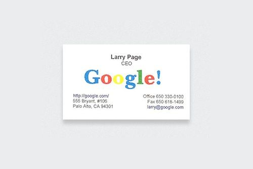 Fascinating Business Cards Of The World S Most Famous People