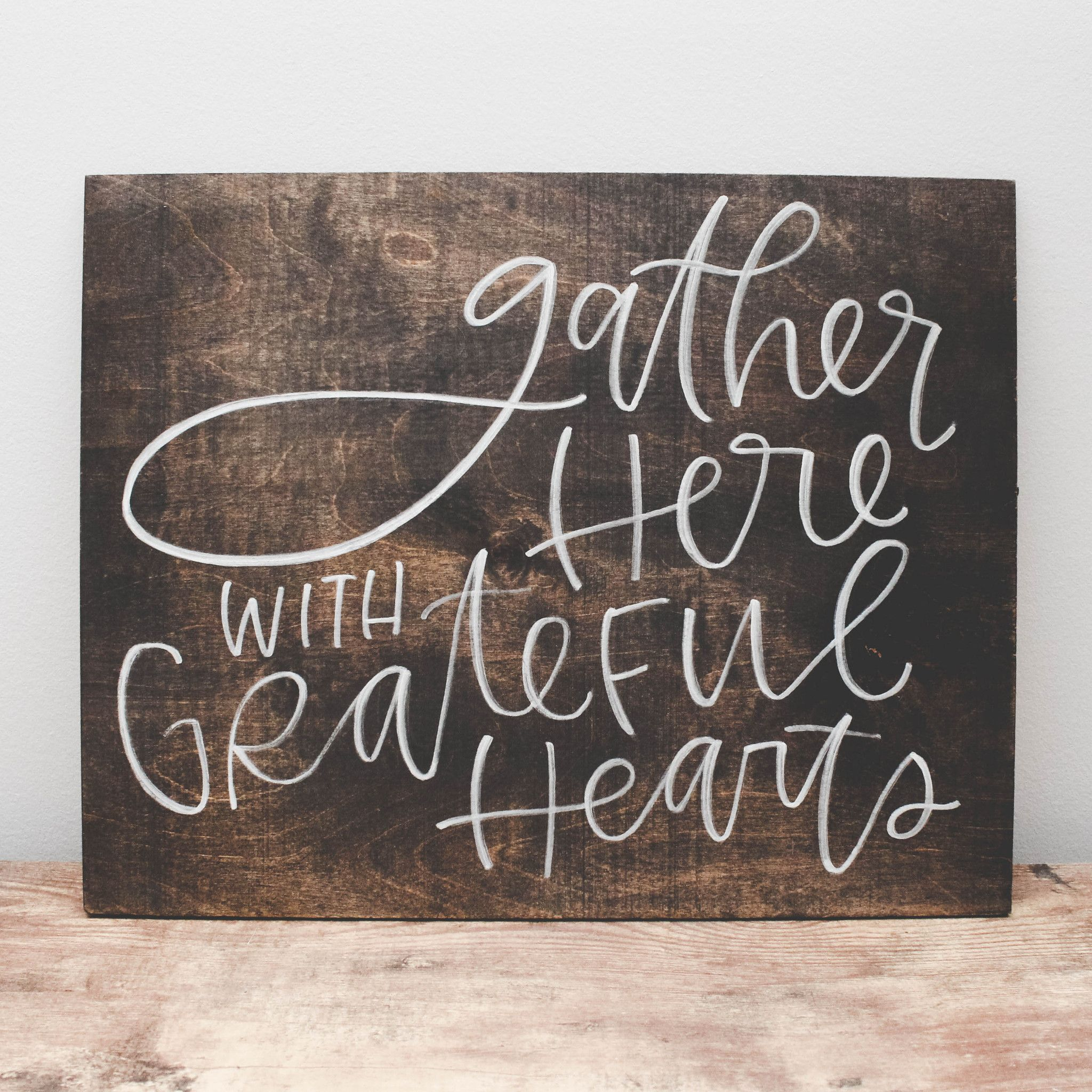 Home Decorating Signs: Grateful Heart, Wood Signs And