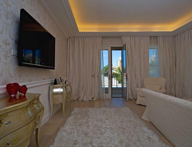 Deckenbeleuchtung Schlafzimmer ~ Indirekte led deckenbeleuchtung schlafzimmer shaggy teppich