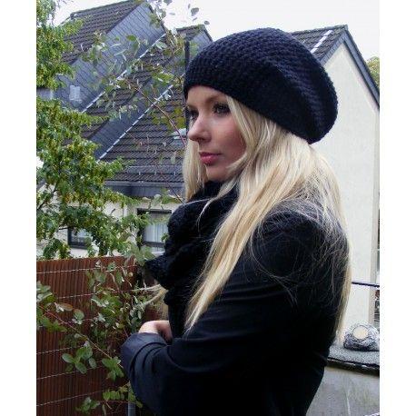 e6bfa658dd2aa0 Häkelmütze Damen schlicht aus Wolle. | Mützen | Beanie mütze, Mütze ...