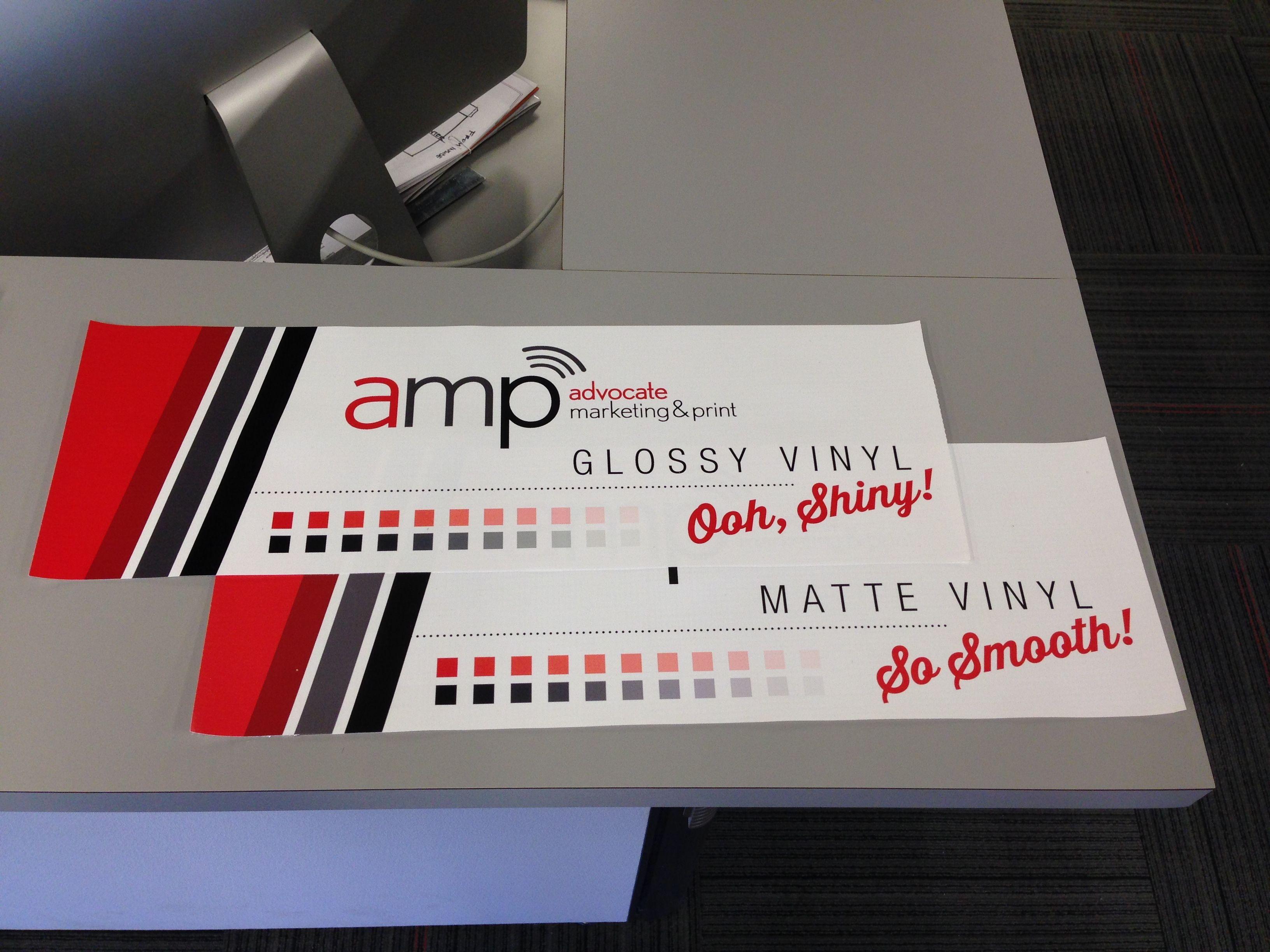 Glossy Vinyl And Matte Vinyl Banner Samples Banner Sample Printing Companies Graphic Design