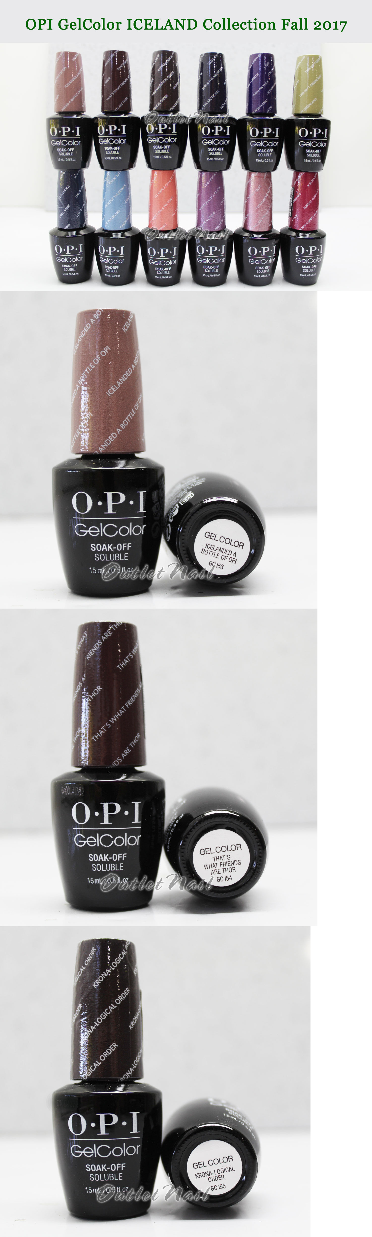 Gel Nails: Opi Gelcolor Iceland Fall 2017 Collection Set Of 12 Gel ...