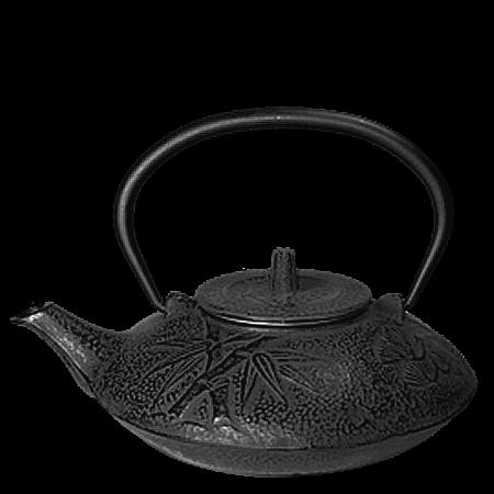 Black Bamboo Cast Iron Teapot Tea Pots Cast Iron Tea Pot