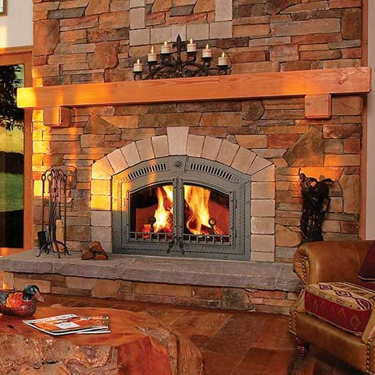 Wood Burning Fireplace, Country Comfort Wood Stove Fireplace Insert