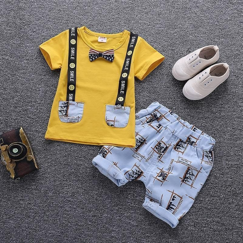 Photo of Cartoon Printed Summer Cotton Cute Baby Boy Outfits