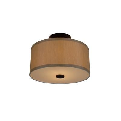 Hampton Bay - 2-Light Oil Rubbed Bronze Glenburn Semi-Flush Drum ...