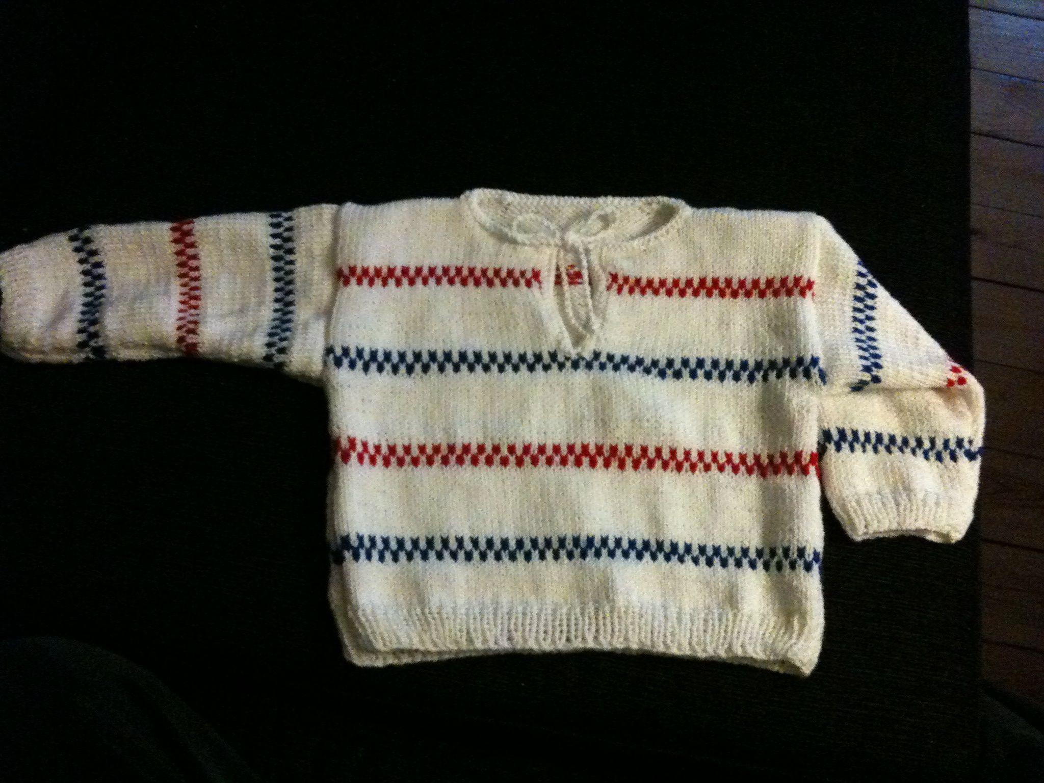 Pippitröja till bebis.