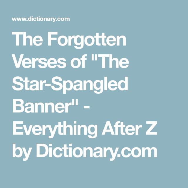 star spangled banner verses