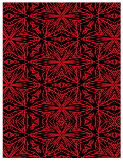 Black and red squiggle stars fabric by khoncepts.