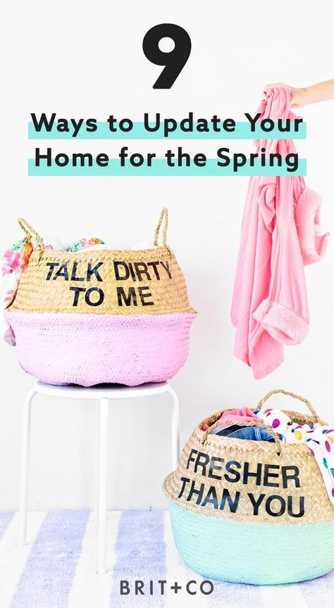 Bookmark this to find 9 tips + tricks to update your home for the spring.