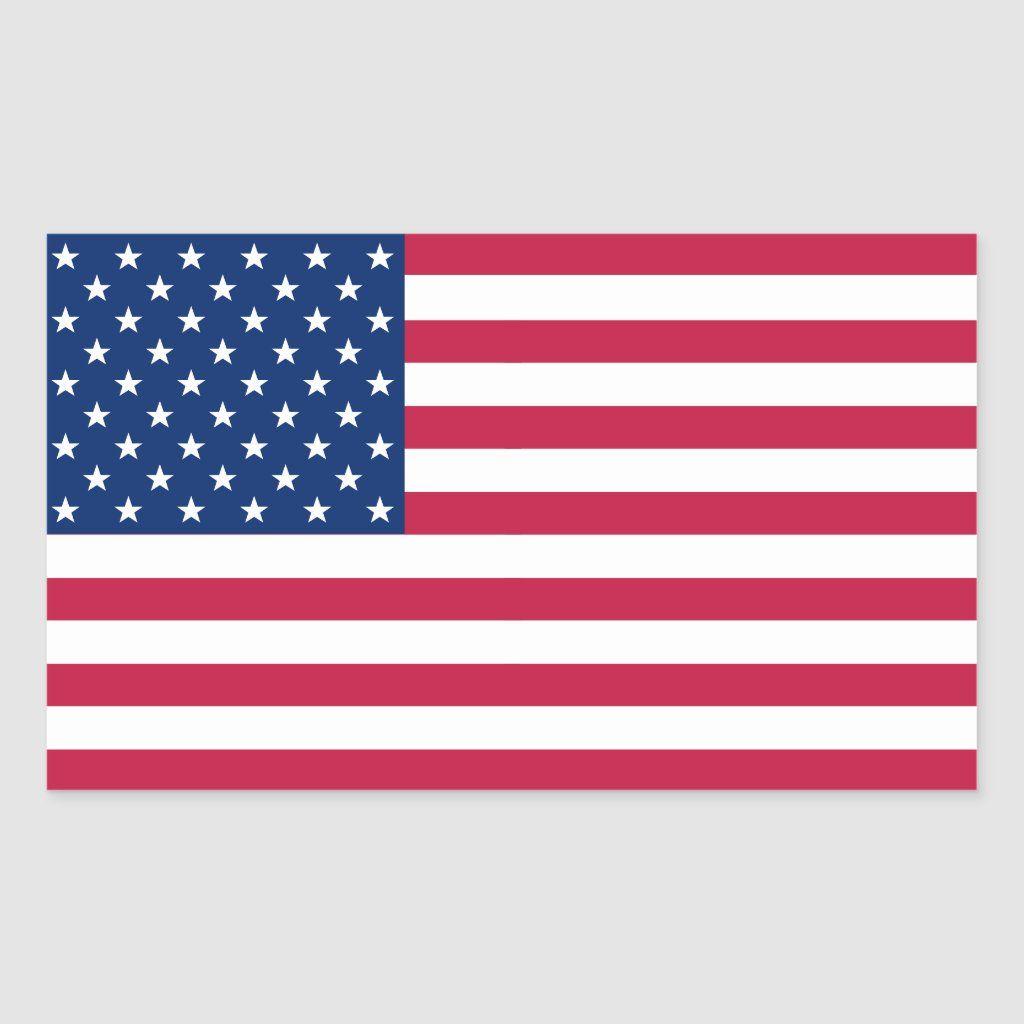 Usa American Flag Patriotic Stars Stripes Sticker Zazzle Com In 2020 Patriotic Stars American Flag American Flag Monogram
